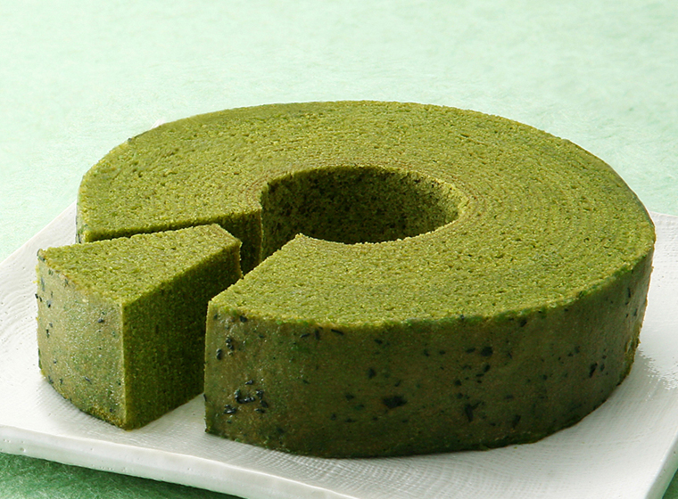 matcha baumkuchen green tea tree cake