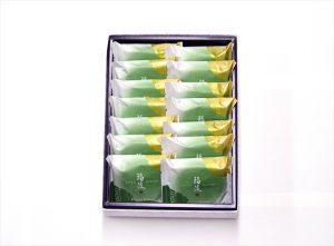 matcha senbei 14 pieces box