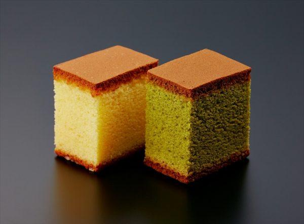 kasutera sponge cake plain and green tea
