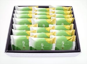 matcha senbei 21 pieces box
