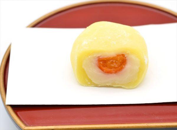 kinkan daifuku white bean rice cake with kinkan small orange citrus