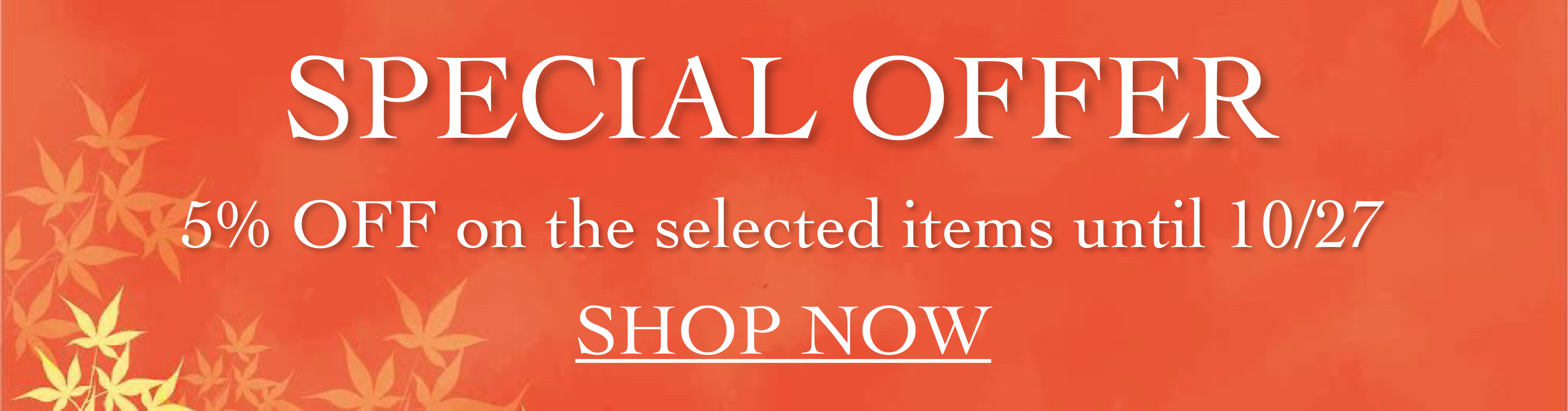 5% off on the selected items
